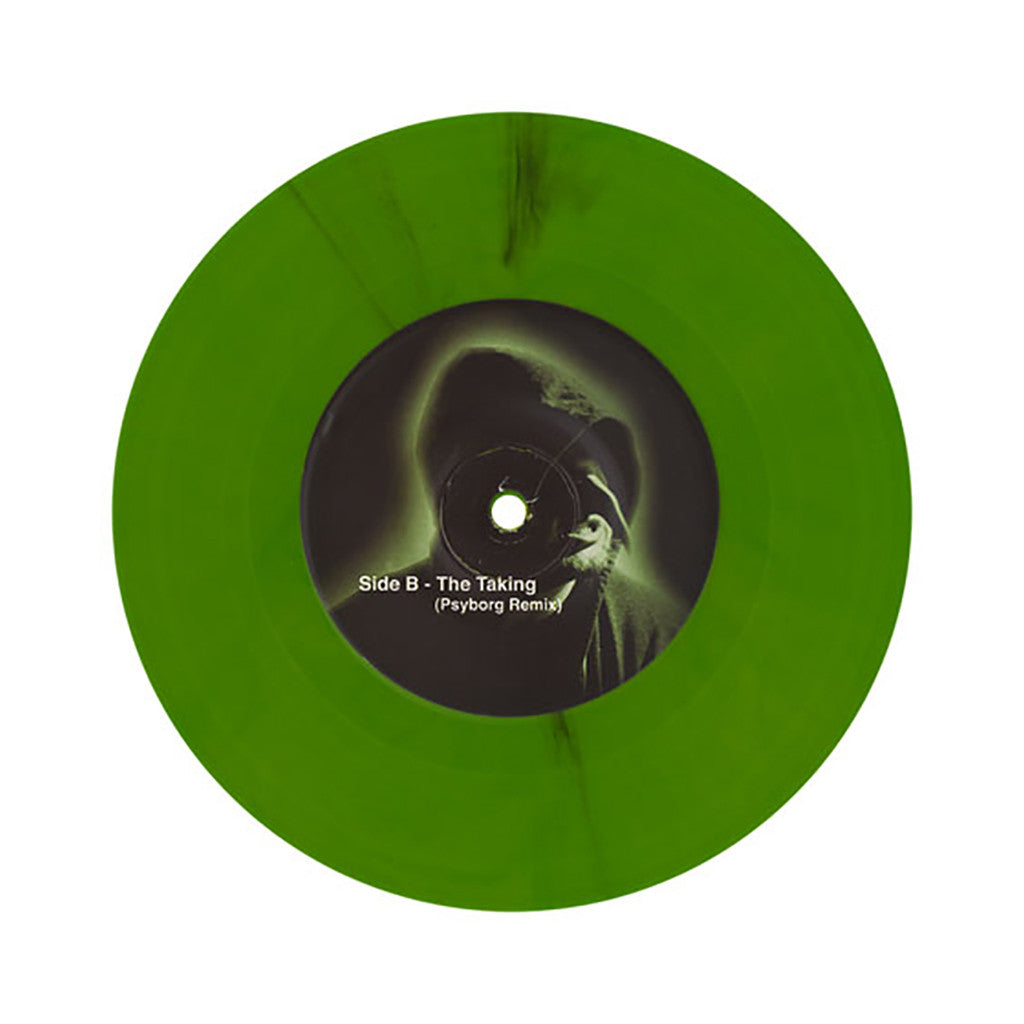 "grIMP & Dagger - 'The Taking/ The Taking (Psyborg Remix)' [(Olive Green) 7"" Vinyl Single]"