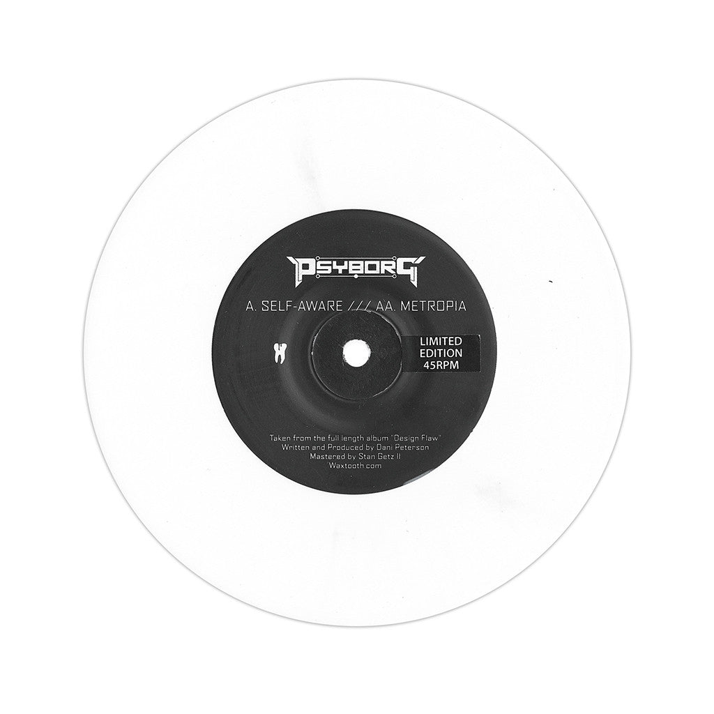 "<!--2013042010-->Psyborg - 'Self Aware/ Metropia' [(White) 7"" Vinyl Single]"
