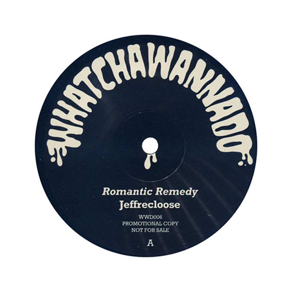 "<!--020111011036153-->Jeffrecloose - 'Romantic Remedy/ Feelings Will Endure' [(Black) 12"" Vinyl Single]"