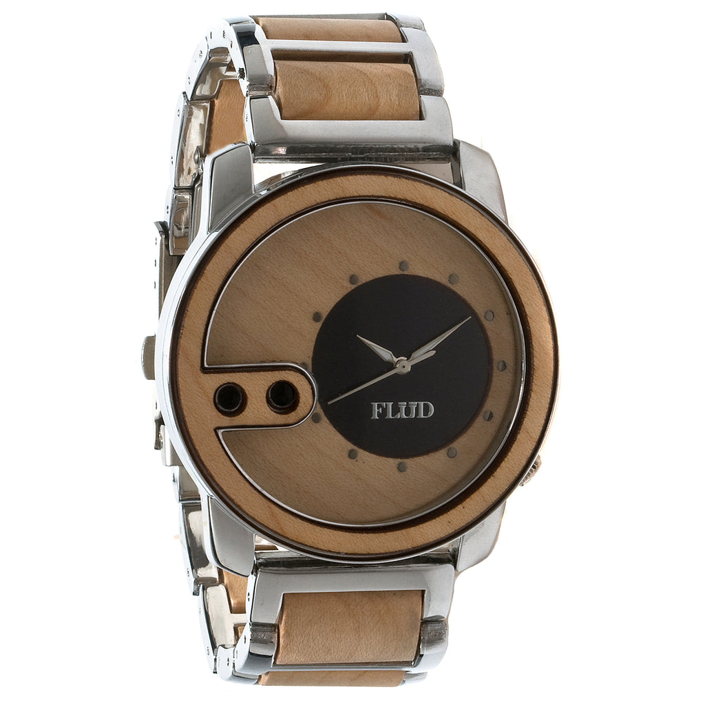 <!--020121002050104-->FLuD Watches - 'The Exchange - Birch Wood' [(Silver) Watch]