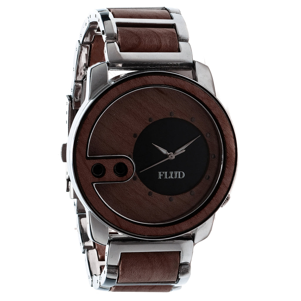 <!--020121002050101-->FLuD Watches - 'The Exchange - Oak Wood' [(Gunmetal) Watch]