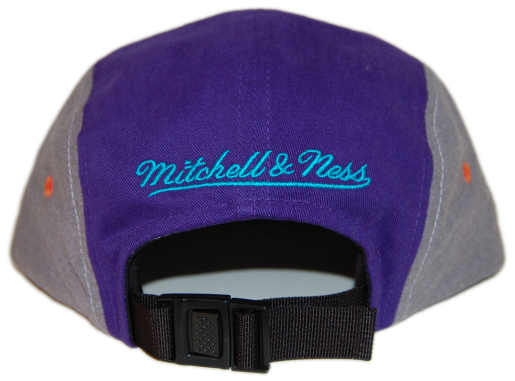 <!--020130618057576-->Mitchell & Ness - 'Color Block - Teal/ Purple/ Orange' [(Gray) Five Panel Camper Hat]