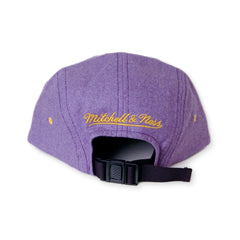 <!--020140103061885-->Mitchell & Ness x NBA - 'Los Angeles Lakers - NBA Current Marks Heather Flannel' [(Light Purple) Five Panel Camper Hat]
