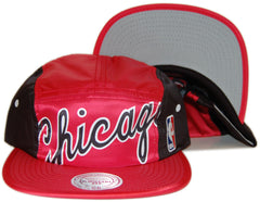 <!--020130910059597-->Mitchell & Ness x NBA - 'Chicago Bulls - Cropped Team Jersey Wordmark' [(Red) Five Panel Camper Hat]