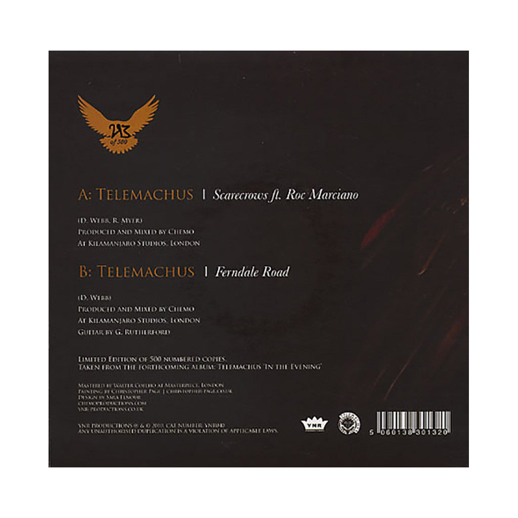"<!--020110322011526-->Telemachus - 'Scarecrows/ Ferndale Road' [(Black) 7"" Vinyl Single]"