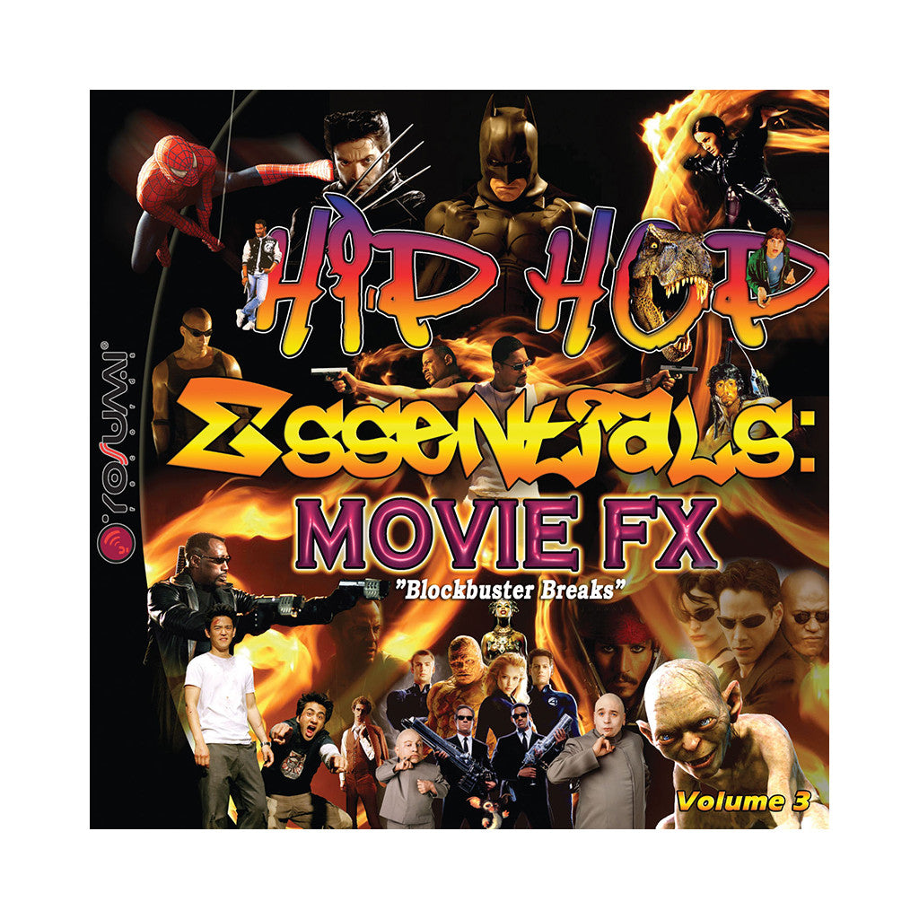 <!--020070206009131-->DJ Rob & Filthy Rich - 'Hip Hop Essentials: Movie FX Vol. 3 (Blockbuster Breaks)' [(Black) Vinyl [2LP]]