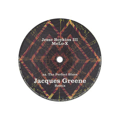 "Jesse Boykins III & MeLo-X - 'The Perfect Blues (MachineDrum Remix)/ The Perfect Blues (Jacques Greene Remix)' [(Black) 10"" Vinyl Single]"
