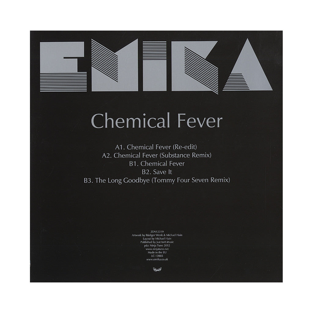 <!--2012061225-->Emika - 'Chemical Fever' [(Black) Vinyl EP]