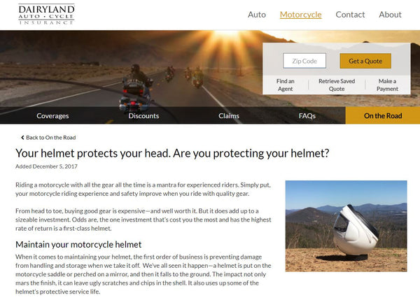 Dairyland Auto and Cycle Insurance's take on the Helmet Halo
