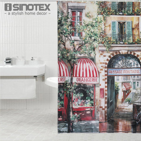 Retro Coffee House Shower Curtain Mouldproof  Waterproof Bath Curtain For Bathroom 1 PCS - *FREE SHIPPING*