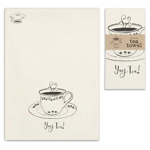"""Yay Tea"" Tea Towel - SET OF 4 - *FREE SHIPPING*"