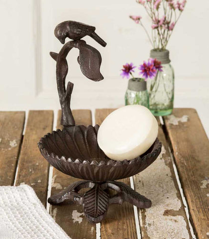 Cast Iron Bird on a Branch Candle Stand - SET OF 2 - *FREE SHIPPING*