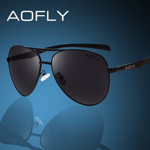 AOFLY Vintage Men Polarized Sunglasses Original Brand Designer Sun Glasses Fashion Men Polaroid Lens Gafas De Sol Outdoor Goggle