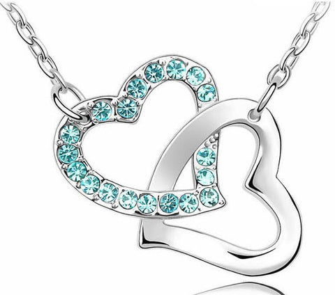 Double Heart Necklace - *FREE SHIPPING