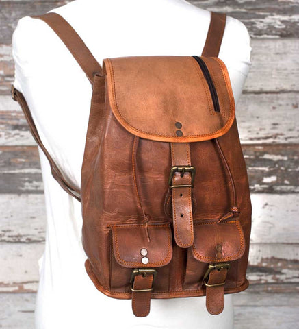 Genuine Leather Bailey Backpack Bag - *FREE SHIPPING*