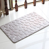 Bathroom Carpet Super Comfortable Doormat Kitchen Bathroom Toilet WC Mat Non-Slip Flannel Bath Mat 4 Colors Drop Shipping