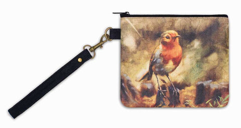 Bird Oil Painting Wristlet - *FREE SHIPPING*