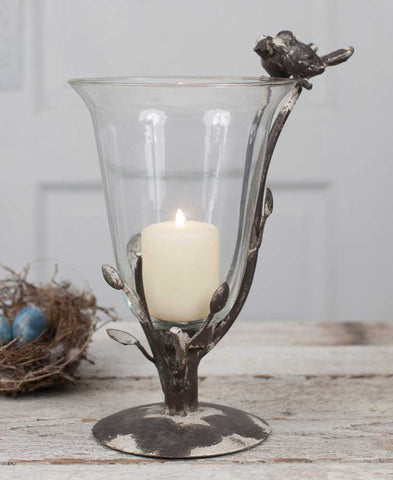 Birds and Branches Glass Vase - *FREE SHIPPING*