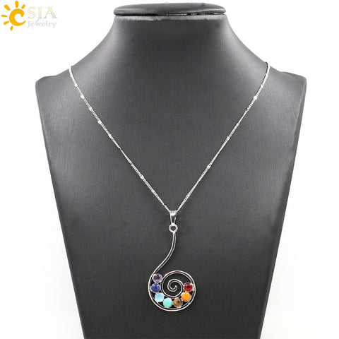 Chakras Healing Stones Necklace - *FREE SHIPPING*