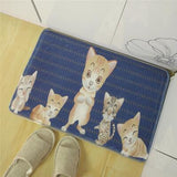 Cartoon Anti-Slip Bath Mat Door Floor Mats Cat Printing Rectangle 7 Colors Cute Children Carpet Home Living Room Decorating