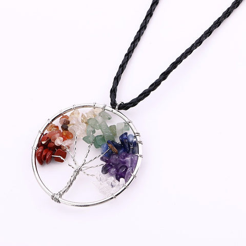 Chakra Stone Beads Life of Tree Necklace  - *FREE SHIPPING*