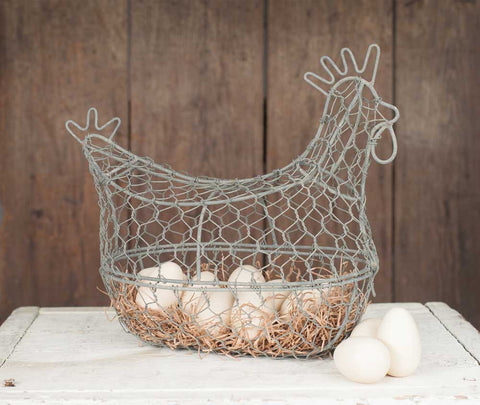 Chicken Wire Egg Basket - *FREE SHIPPING*
