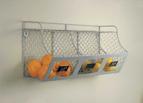 Chicken Wire Multi Bin Wall Organizer With Label Tags - *FREE SHIPPING*