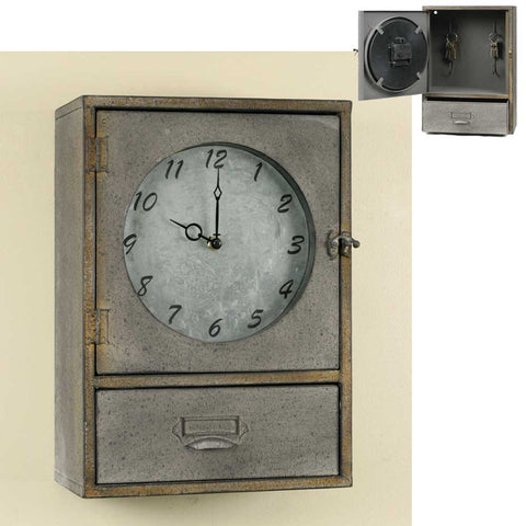 Clock Cabinet With Drawer - *FREE SHIPPING*