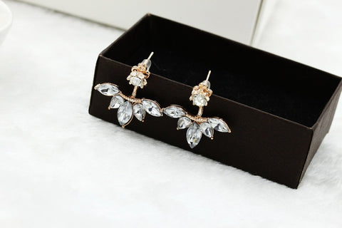 Leave Crystal Stud Earrings - *FREE SHIPPING*