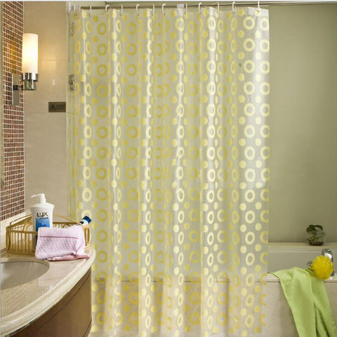 Europe Yellow Shower Curtain PEVA Mold Proof Waterproof Eco-friendly Endless Curtains Thick Bathroom Products High Quality