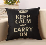 Fashion Letter Cushion No Inner Design English Words Polyester Cotton Home Decor Sofa Car Seat Decorative Throw Pillow Funda