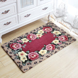 Fashion Non-slip Mat Microfiber Bath Mat Rugs for Living Room Bedroom 3D Flower Print Floor Mats Bathroom Carpets Door Mat