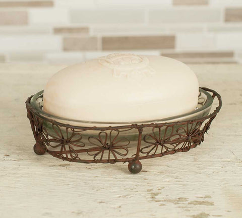Flower Oval Soap Dish - Set Of 4 - FREE SHIPPING!