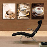 Free Shipping 3 Piece Wall Art Hot Sell Hot Cup Of Coffee Tea For Dinner Modern Wall Painting Home Decor Art Picture On Canvas