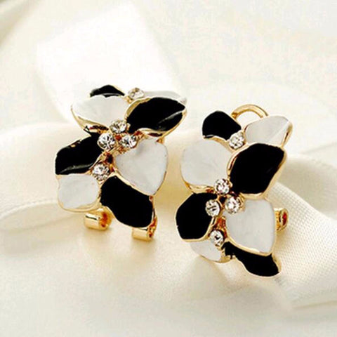 Crystal Flower Earring Stud - *FREE SHIPPING*