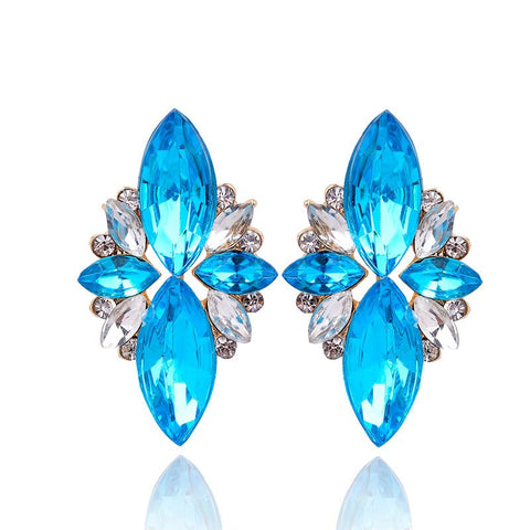 Opal Stone Stud Earrings - - *FREE SHIPPING*