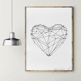 Heart Shape Canvas Art Print, Wall Pictures for Home Decoration, Wall Art Decor FA153