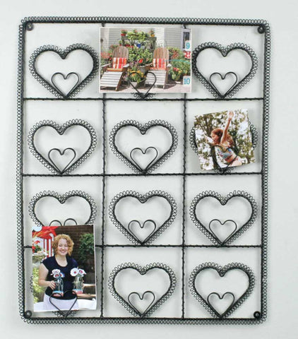 Heart Metal Wall Photo Holder Decoration - *FREE SHIPPING*