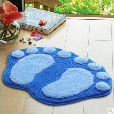 Hot Sale 6colors Bath Mats Kitchen Door Mat Bathroom Waste-absorbing Rug Non-slip Big Feet Mats Bathroom Accessories 3