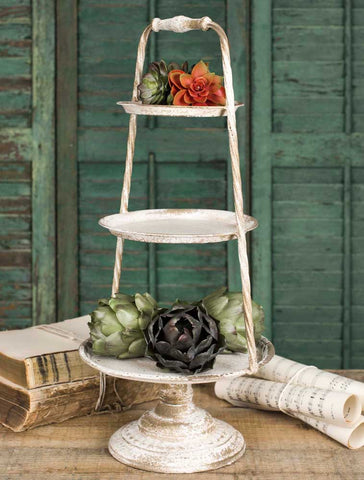 Ivory Three Tier Stand - *FREE SHIPPING*