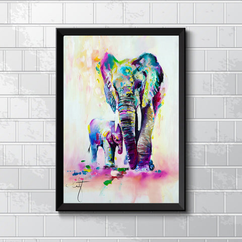 Canvas Painting HD Printed On Canvas Art Animal Elephant Son Home Decor Unframed - *FREE SHIPPING*