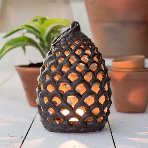 Large Pinecone Tea Light Lantern - SET OF 2 - *FREE SHIPPING*
