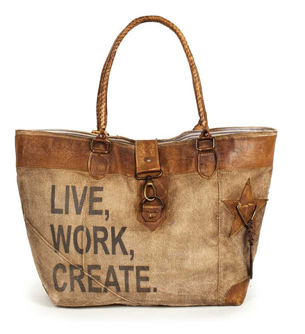 Live Work Create Canvas Tote Bag - *FREE SHIPPING*