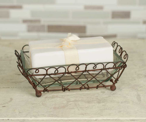 Looped Square Soap Dish - Set Of 4 - *FREE SHIPPING*