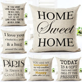 Love Letter Printed Linen Cotton Square 45x45cm European Home Decor Houseware Bed Cushion Throw Pillow Cushion Cojines Almohadas