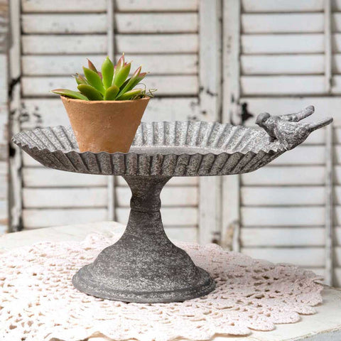 Lovebirds Oval Pedestal Tray - SET OF 2 - *FREE SHIPPING*