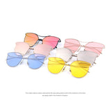 MERRY'S Women Fashion Sunglasses Classic Brand Designer Sunglasses Vintage Twin Beam Metal Frame Glasses S'8014