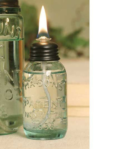 Miniature Mason Jar Oil Lamp - SET OF 6 - *FREE SHIPPING*