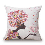 New Nordic Style Home Decor Cushion Pillow Seat Sassy Girl Printed Almofadas Home Throw Pillow Fashion Cushions Fundas Cojines