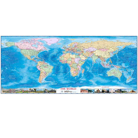 "New arrival home decor canvas oil painting about "" Beauty world Map "" for living room bed room high quality canvas"